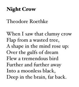 Roethke's Crow